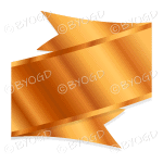 Metallic Bronze Ribbon Banner
