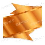 Metallic Bronze Ribbon Banner