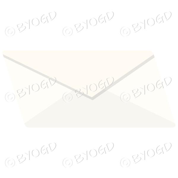 Plain pale yellow envelope