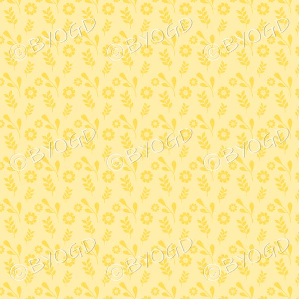 Yellow flower background wallpaper