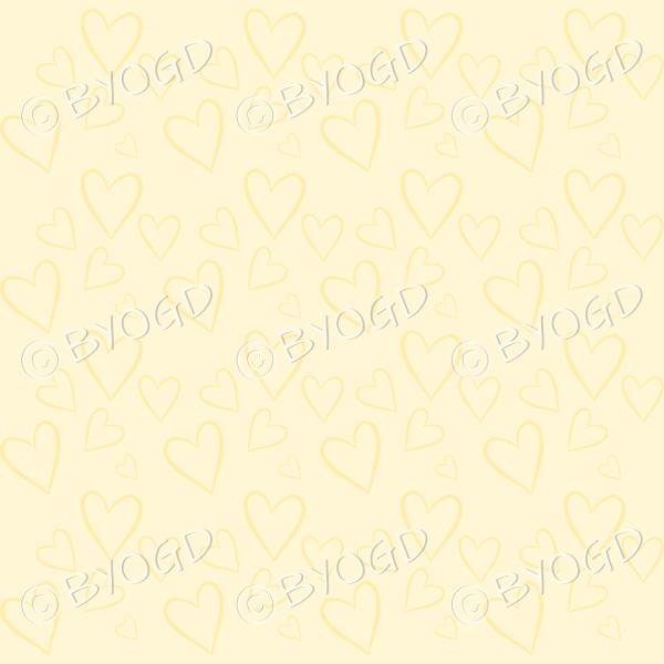 Yellow heart background wallpaper