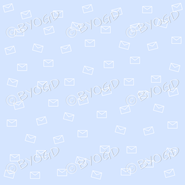 Blue email pattern background wallpaper