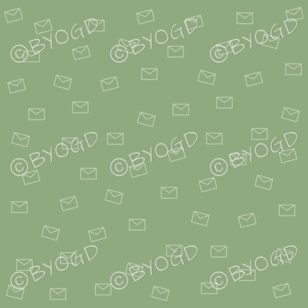 Green email pattern background wallpaper