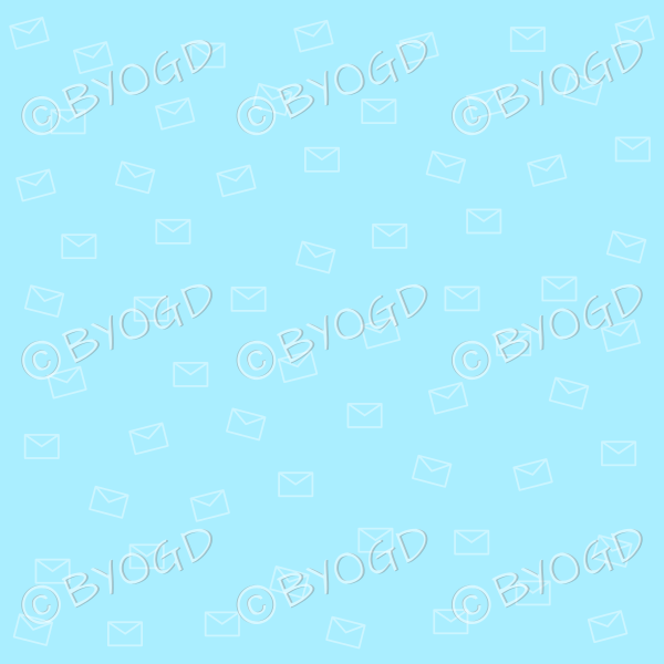 Light Blue email pattern background wallpaper