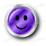 Purple smiley face button