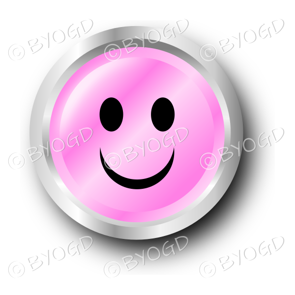 Pink Smiley Face With Bow