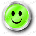 Green smiley face button