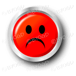 Red sad smiley face button