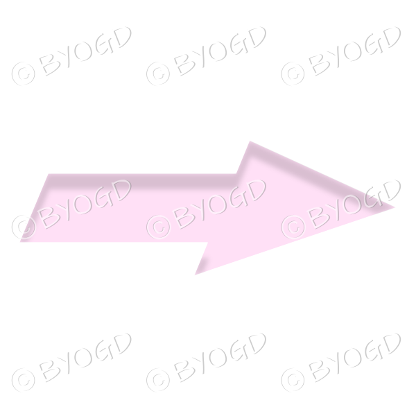 Pink direction arrow