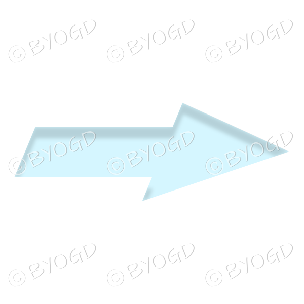 Blue direction arrow