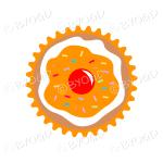 Orange cupcake or muffin - top view
