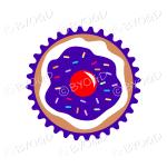 Dark Purple cupcake or muffin - top view