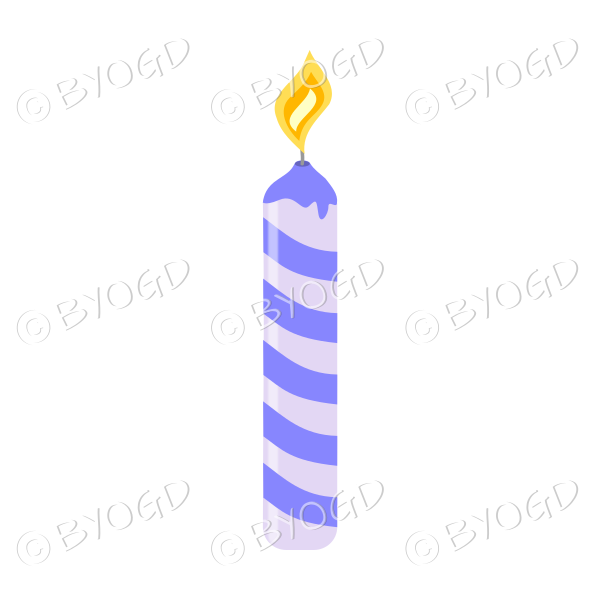 Purple Birthday cake candle