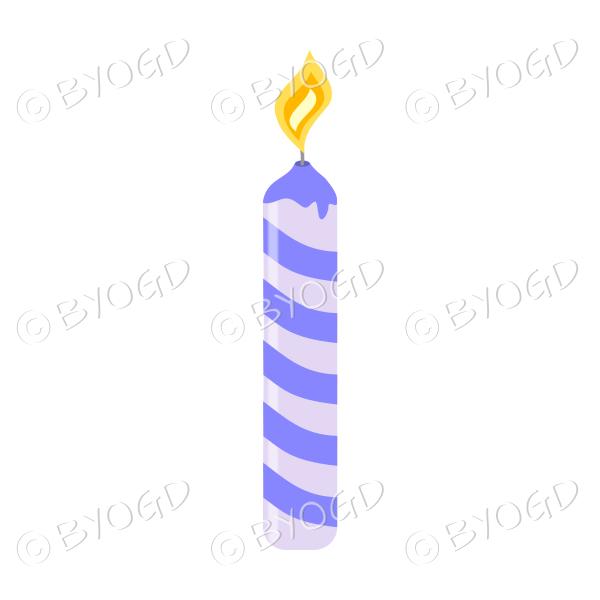 Birthday cake candle - purple