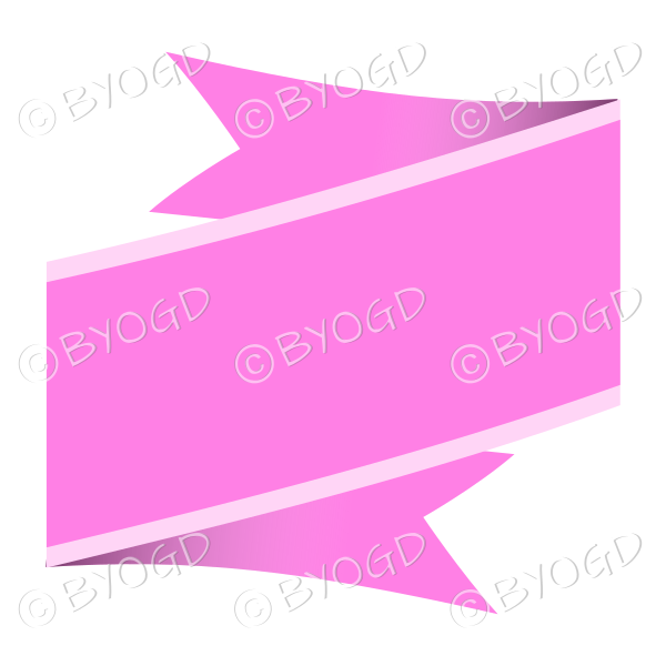 Wide Pink Ribbon Banner