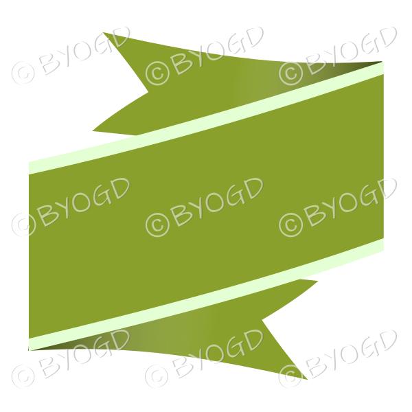 Wide Green Ribbon Banner