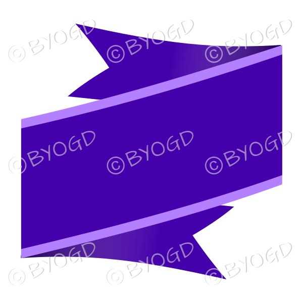 Purple Ribbon Banner