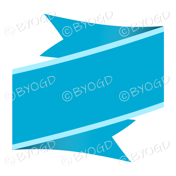 Wide Blue Ribbon Banner