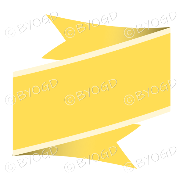 Wide Yellow Ribbon Banner
