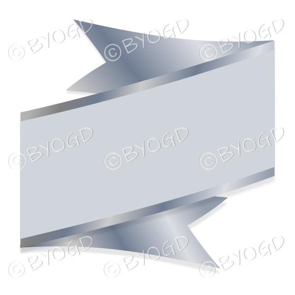 Wide Silver Ribbon Banner