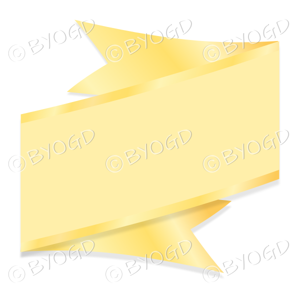 Wide Yellow Ribbon Banner edged in gold