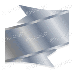 Metallic Silver Ribbon Banner