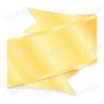 Metallic Gold Ribbon Banner