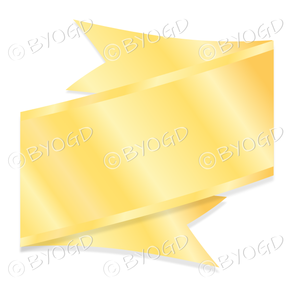 Wide Metallic Gold Ribbon Banner