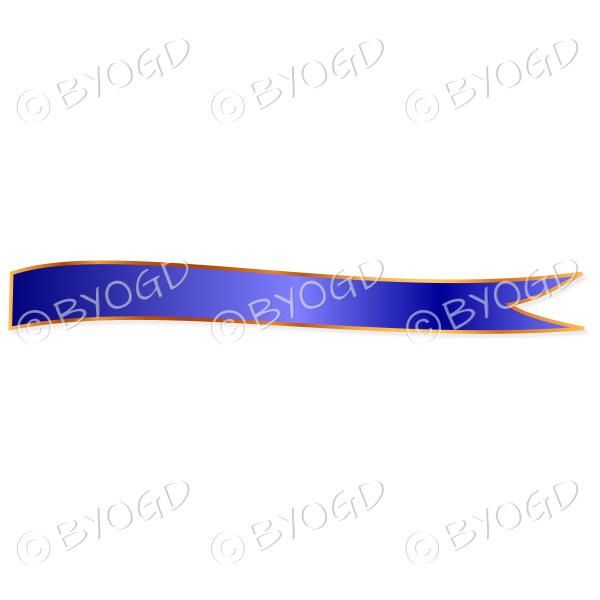Dark Blue Ribbon Banner edged in gold