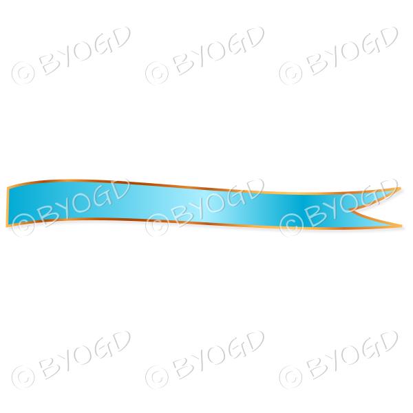 Light Blue Ribbon Banner edged in gold