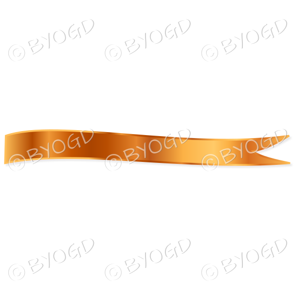 Bronze Ribbon Banner edged in gold