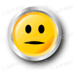 A yellow flat face smiley button.