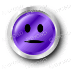 A purple flat face smiley button.