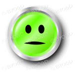 A green flat face smiley button.