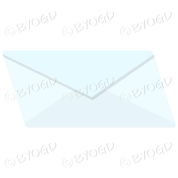 Light blue envelope