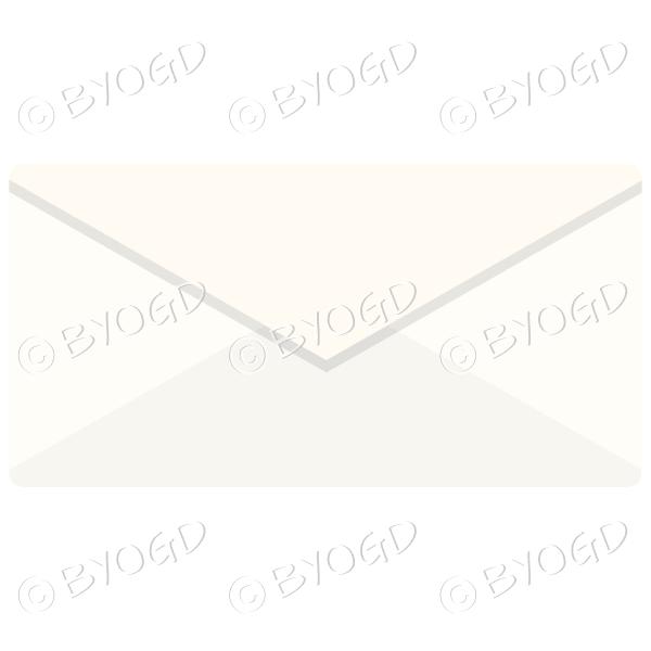 Pale yellow envelope top view