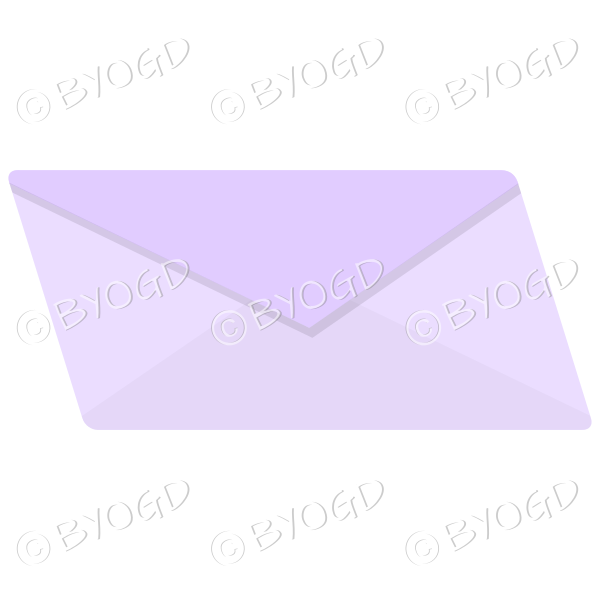 Plain pale purple envelope