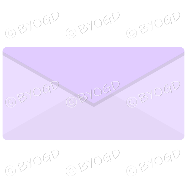 Pale purple envelope top view