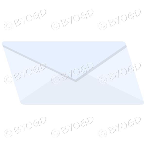 Plain pale blue envelope