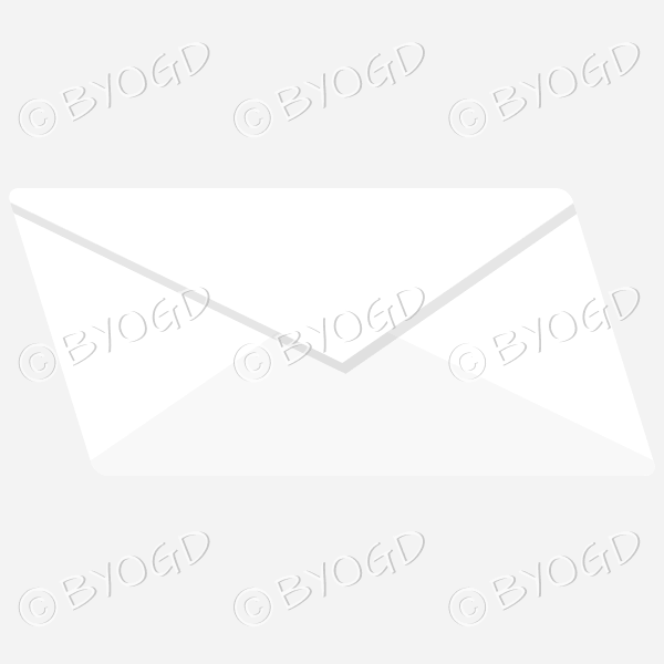 Plain white blue envelope