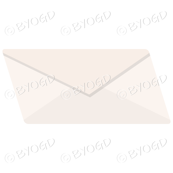 Plain pale orange envelope