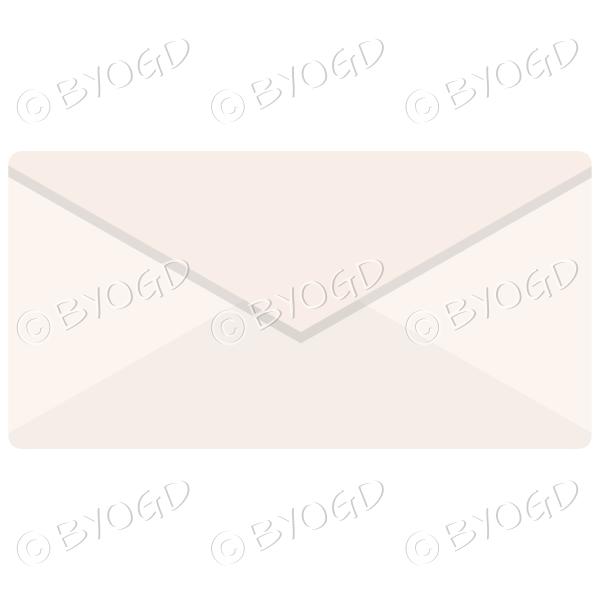 Pale orange envelope top view