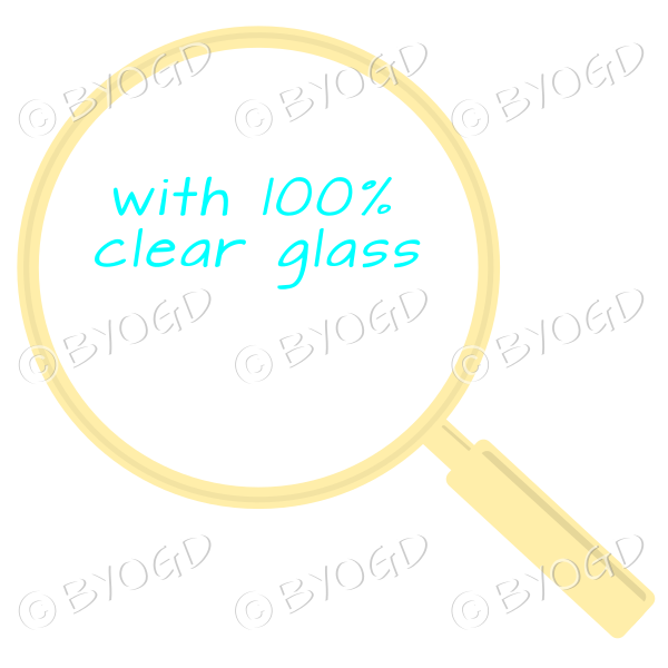 Yellow magnifying glass with clear glass
