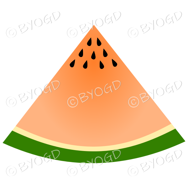 Juicy orange watermelon segment