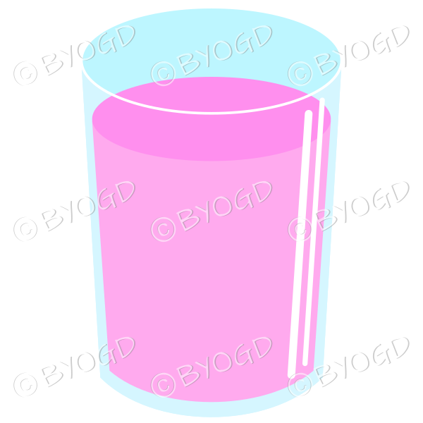 Refreshing pink cold drink. Could be juice or soda