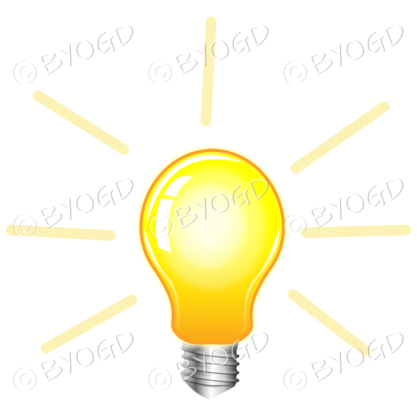 Yellow light bulb to show ideas and inspiration