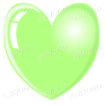Bright green heart