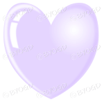 Pale purple heart