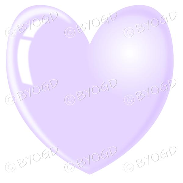 Pale purple heart