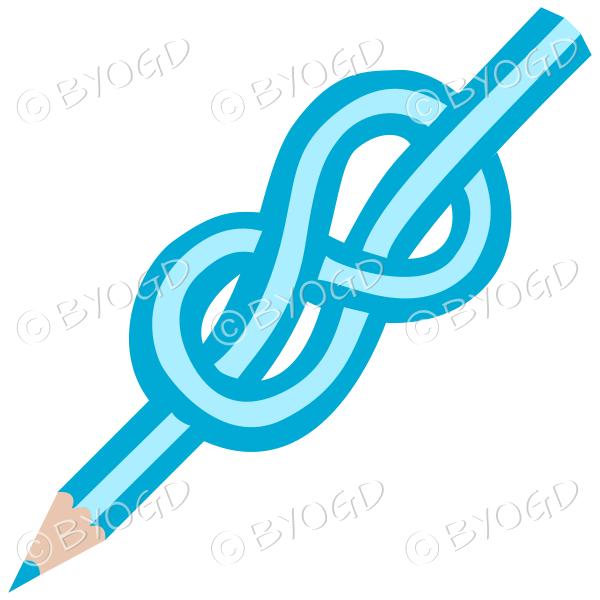 Light blue knot pencil
